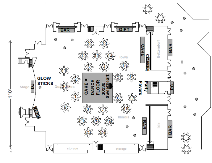 Image of floorplan two dancefloor